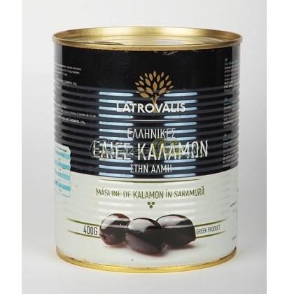 Echte Griekse Kalamata olijven (met pit) in blik 400 gr