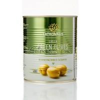 Griekse Groene olijven (ontpit) in blik 360 gr