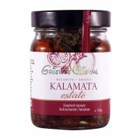 test Zongedroogde tomaten in olijfolie, kapers en kruiden, glazen pot 180 gr