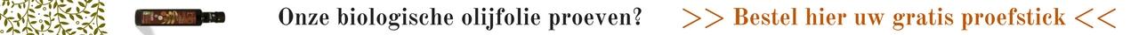 Gratis Proefstick Olijfolie bestellen